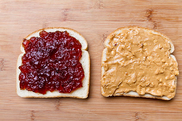 Open Face Peanut Butter and Jelly Sandwich:スマホ壁紙(壁紙.com)