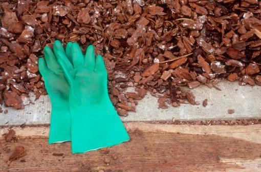 Protective Glove「Gardening gloves in mulch」:スマホ壁紙(1)
