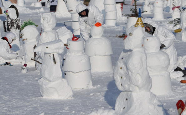 雪だるま「Snowman Performance Against Global Warming」:写真・画像(5)[壁紙.com]