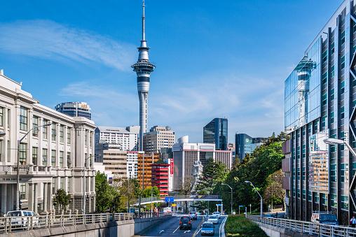 North Island New Zealand「Wellesley Street East downtown Auckland」:スマホ壁紙(19)
