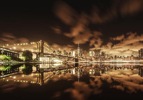 Hudson River Park「manhattan skyline from brooklyn」:スマホ壁紙(6)