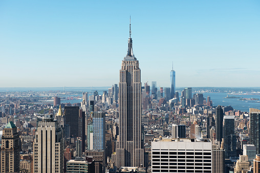 Empire State Building「Manhattan skyline, New York, USA」:スマホ壁紙(14)