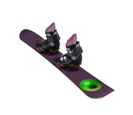 スノーボード板「Snowboard and Boots」:スマホ壁紙(16)