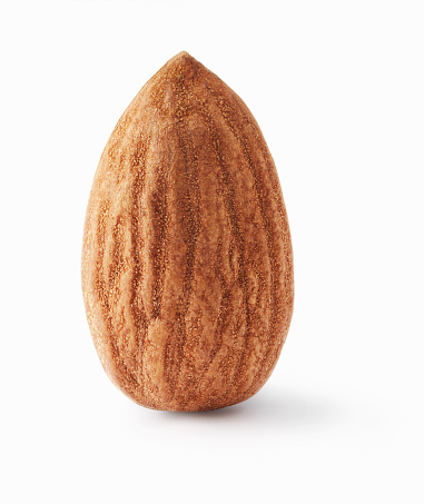 アーモンド「Almond upright on white background」:スマホ壁紙(10)