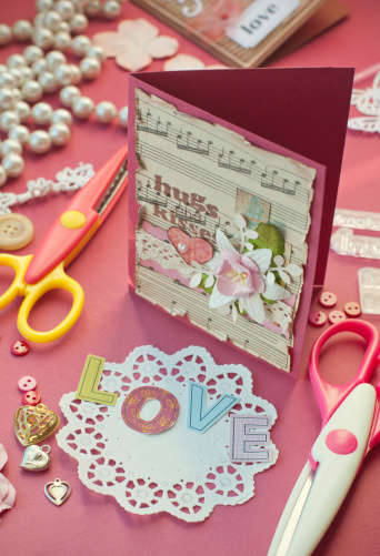 Paper Craft「Scrapbooking with love」:スマホ壁紙(2)