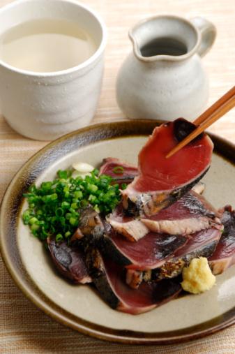 Sake「Seared bonito sashimi and shochu」:スマホ壁紙(4)