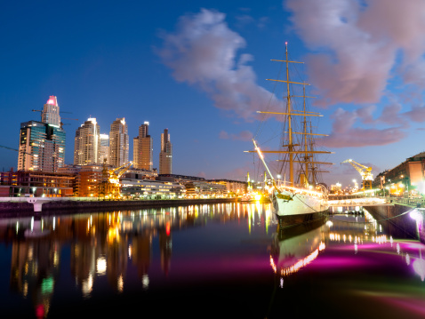 Buenos Aires「Buenos Aires Skyline by Puerto Madero Night」:スマホ壁紙(6)
