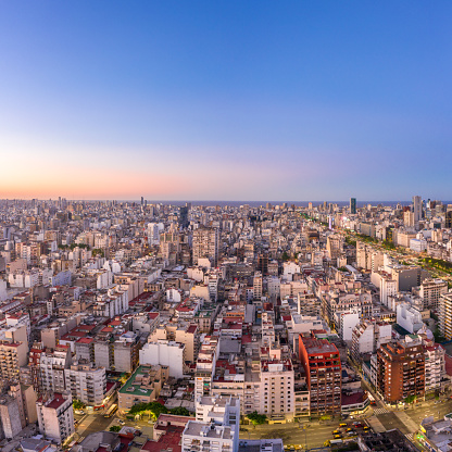 Buenos Aires「Buenos Aires, Argentina aerial view of Monserrat.」:スマホ壁紙(2)
