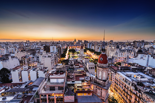 Buenos Aires「Buenos Aires skyline at sunset」:スマホ壁紙(3)