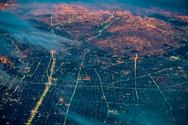Buenos Aires at night, Argentina:スマホ壁紙(壁紙.com)