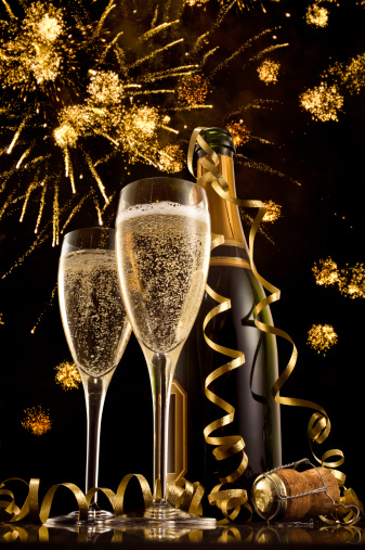 New Year「Champagne on New Year's Eve」:スマホ壁紙(15)