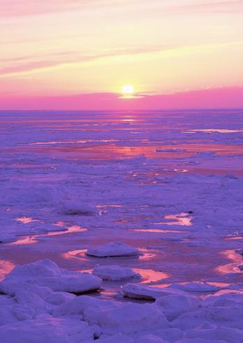Drift Ice「Drifr ice and sunset」:スマホ壁紙(2)