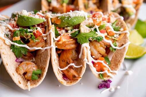 Stuffed「Colorful Street Tacos, Shrimp - Seafood, Fish, Grilled, Ready-To-Eat」:スマホ壁紙(13)