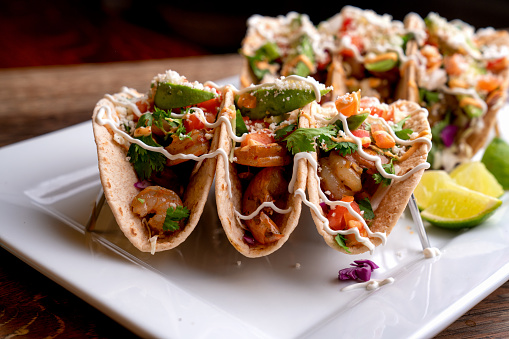 Taco「Colorful Street Tacos, Shrimp - Seafood, Fish, Grilled, Ready-To-Eat」:スマホ壁紙(9)