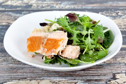 Meal「Roasted Salmon Salad」:スマホ壁紙(2)