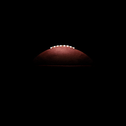 Sports Equipment「American football ball on black background」:スマホ壁紙(4)
