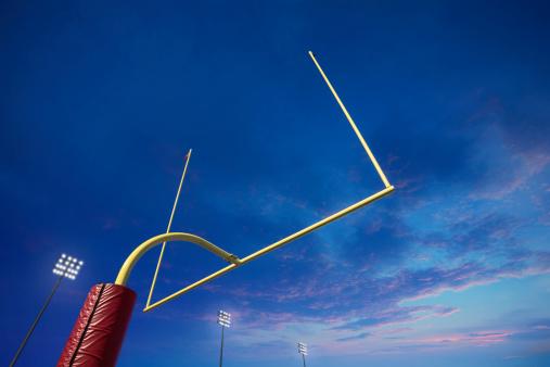 Goal Post「American football goalpost at sunset」:スマホ壁紙(17)