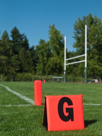 Goal Post「American Football field Goal Post with Marker in End Zone」:スマホ壁紙(8)