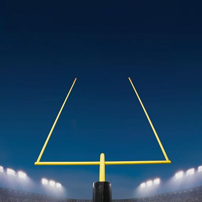 Goal Post「American football goal post and stadium」:スマホ壁紙(12)