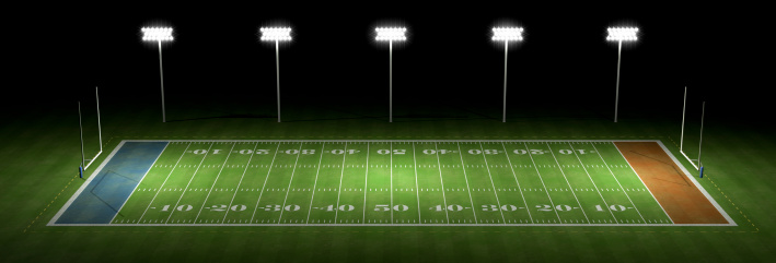 Goal Post「American football field at night」:スマホ壁紙(13)