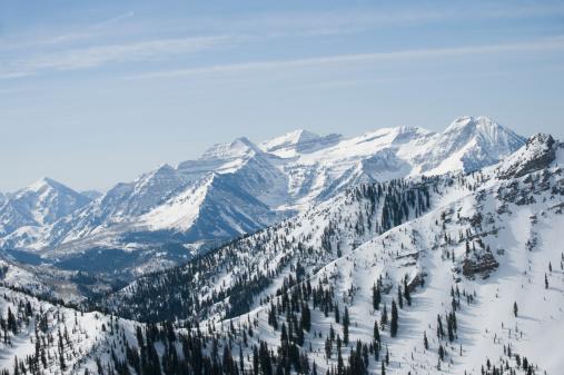 塩湖「Snow covered mountains, Wasatch Mountains, Utah, United States」:スマホ壁紙(11)