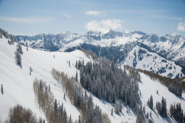 Snow covered mountains, Wasatch Mountains, Utah, United States:スマホ壁紙(壁紙.com)