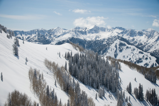 スキー「Snow covered mountains, Wasatch Mountains, Utah, United States」:スマホ壁紙(15)