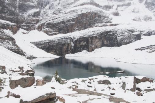 Yoho National Park「Snow Covered Mountain And Lake O'hara」:スマホ壁紙(7)