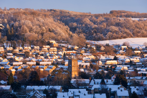Gloucestershire「Snow Covered English Village In Winter」:スマホ壁紙(17)