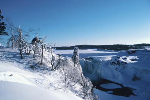 Snowdrift「Snow covered rural landscape , Canada , North America」:スマホ壁紙(0)
