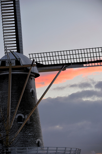 North Brabant「Snow covered windmill in the Netherlands」:スマホ壁紙(13)