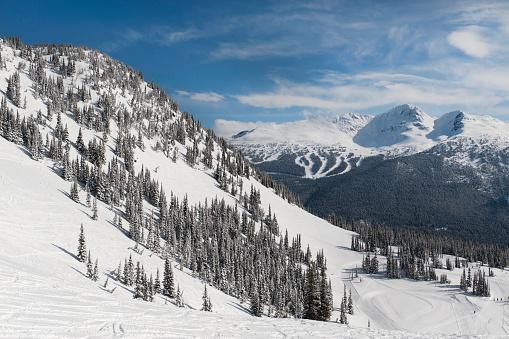 スキー場「Snow Covered Mountains; Whistler, British Columbia, Canada」:スマホ壁紙(5)