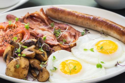 South Africa「English breakfast, bacon, eggs, and mushrooms」:スマホ壁紙(15)