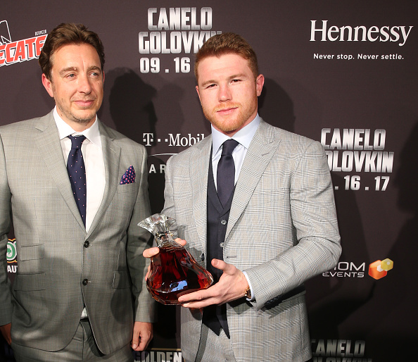 "Saul Alvarez「Canelo Alvarez and Gennady ""GGG"" Golovkin New York City Press Tour Sponsored by Hennessy」:写真・画像(1)[壁紙.com]"