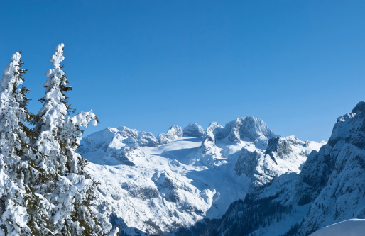 Dachstein Mountains「Wonderful winter landscape of the Austrian Alps」:スマホ壁紙(15)