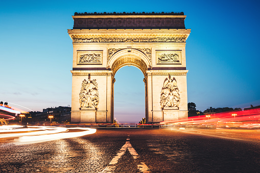 Arc de Triomphe - Paris「Traffic Around Arc De Triomphe」:スマホ壁紙(16)