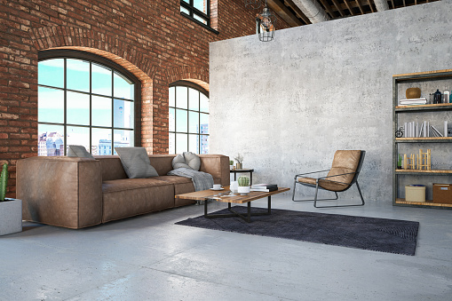 Rustic「Loft Room with Sofa」:スマホ壁紙(3)