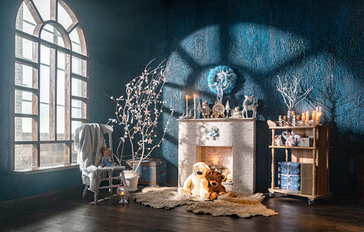 Stuffed Toy「Loft room with Christmas decor」:スマホ壁紙(7)