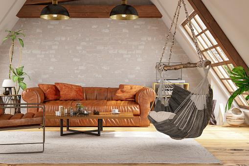 Comfortable「Loft Room with Hammock and Furniture」:スマホ壁紙(17)