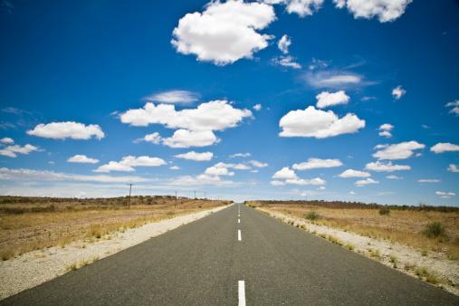Dividing Line - Road Marking「African Desert Highway」:スマホ壁紙(1)