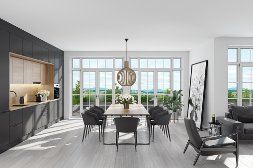 Scandinavia「Modern Scandinavian kitchen and dining room」:スマホ壁紙(0)