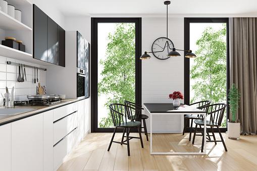 Scandinavia「Modern Scandinavian kitchen and dining room」:スマホ壁紙(19)