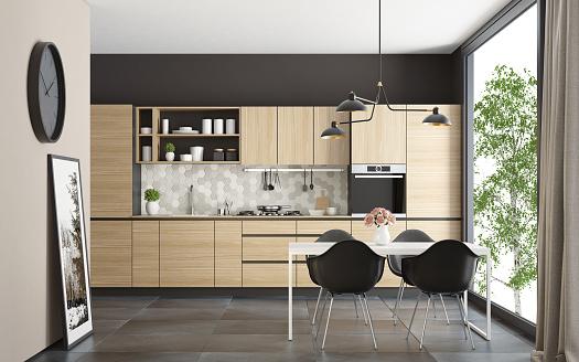 Scandinavia「Modern Scandinavian kitchen and dining room」:スマホ壁紙(16)