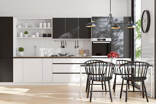 Scandinavia「Modern Scandinavian kitchen and dining room」:スマホ壁紙(8)