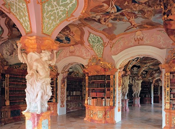 Abbey - Monastery「Monastery Library, Metten」:写真・画像(1)[壁紙.com]