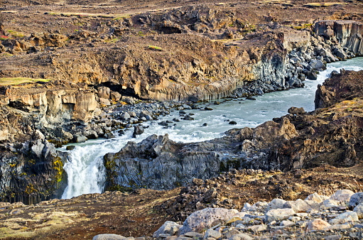 Basalt「Aldeyjarfoss Waterfall」:スマホ壁紙(12)
