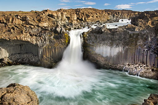 Basalt「Aldeyjarfoss Waterfall」:スマホ壁紙(10)