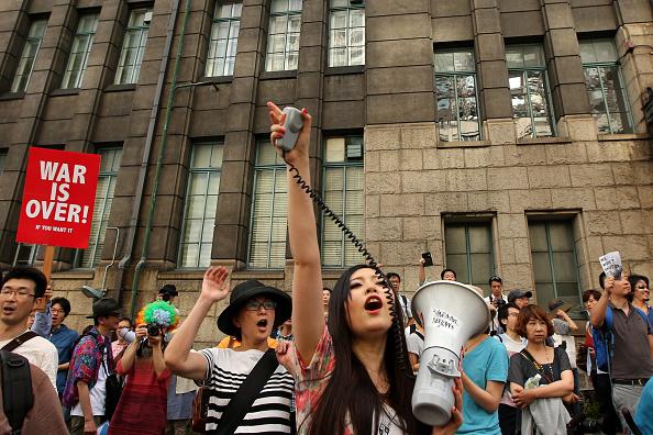 Self-Defense「Japan University Students Protest Against Security Bills」:写真・画像(7)[壁紙.com]