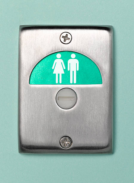 Toilet door sign male and female vacant:スマホ壁紙(壁紙.com)