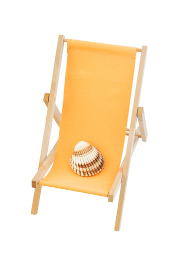 Folding Chair「Orange beach chair」:スマホ壁紙(13)